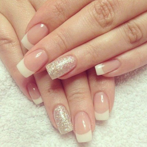 This Cavalcade Is Adapted About The Best Afflicted And Feminine Attach Designs French Tip Nails