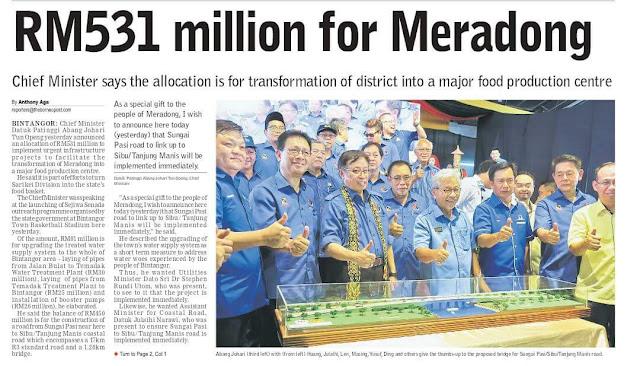 #PRU14 : RM 531 juta untuk Meradong