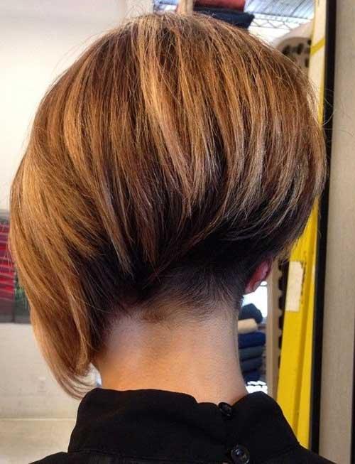 Blonde Undercut Bob Haircut Back View | Fashion Qe