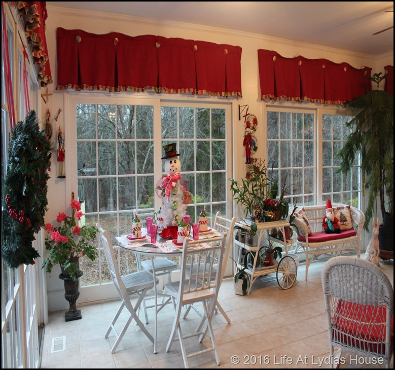 Sun Room at Christmas