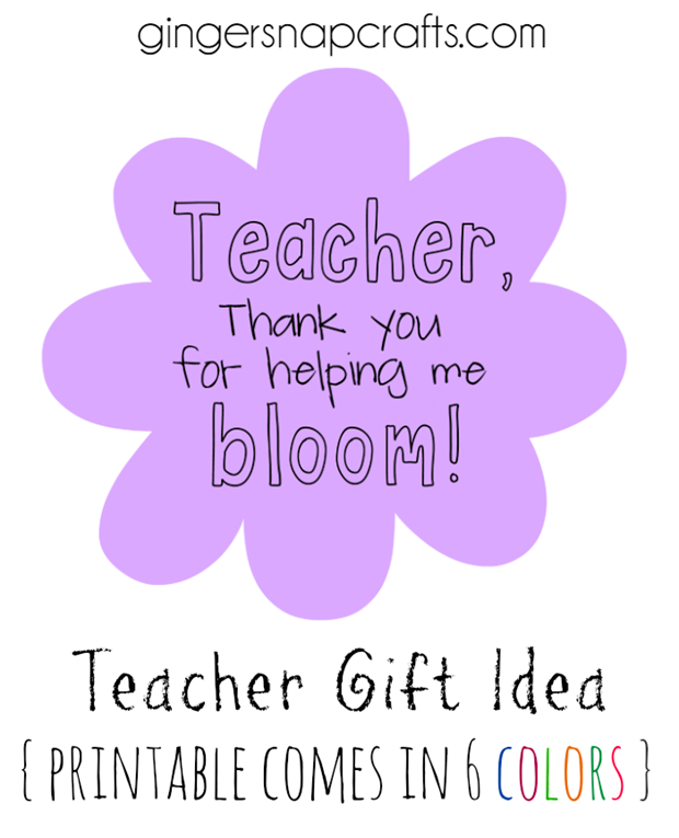 Teacher Gift Idea at GingerSnapCrafts.com #teacher #gift