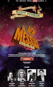 Website design, arculattervezés és weboldal készítés a Nem a Messiás Musical-nak.
