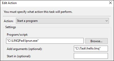 Task Scheduler Action