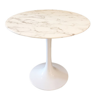 Saarinen Inspired Marble Tulip Base Table