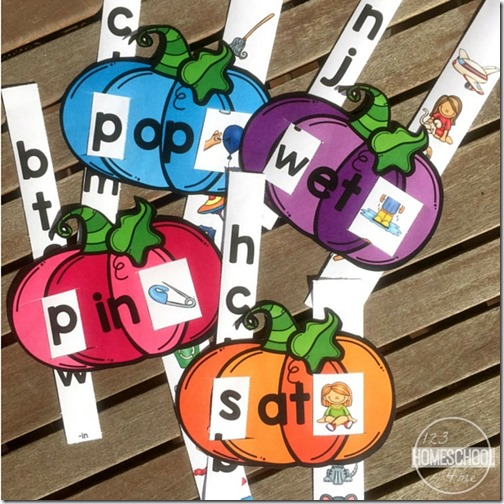 These beautiful fall word family slides will really help your children develop their reading skills!