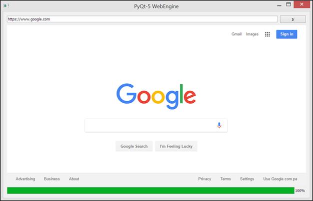 Mostrar página web con PyQt 5
