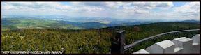 Panorama z wieży widokowej na Wielkiej Sowie