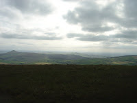 Shuttlingsloe and a paraglider from Shining Tor