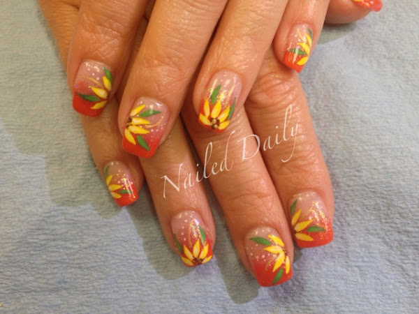 Orange and Yellow Floral Fade