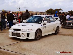 White Mitsubishi Evo V