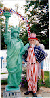 Statue of Liberty with Uncle Sam