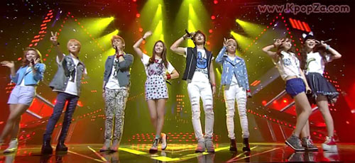 3 หนุ่ม SHINee + สาว f(x) ในเพลง 'Hello' รายการ Inkigayo