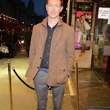 WWW.ENTSIMAGES.COM -    Richard Hansell arriving at       East is East - press night at Trafalgar Studios London October 16th 2014                                                 Photo Mobis Photos/OIC 0203 174 1069