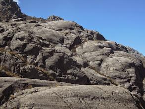 Photo: Glacially-eroded bedrock