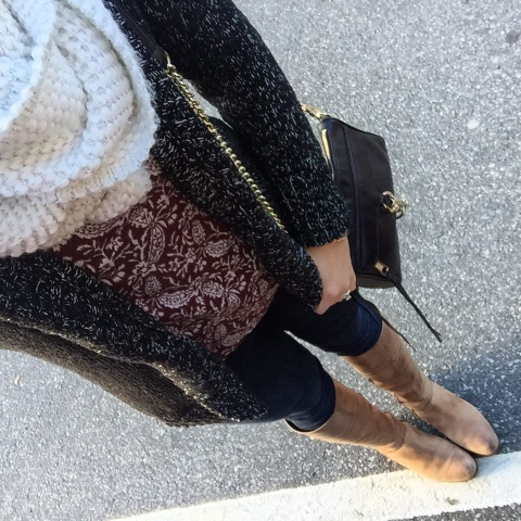 how to wear riding boots, comfy cozy look