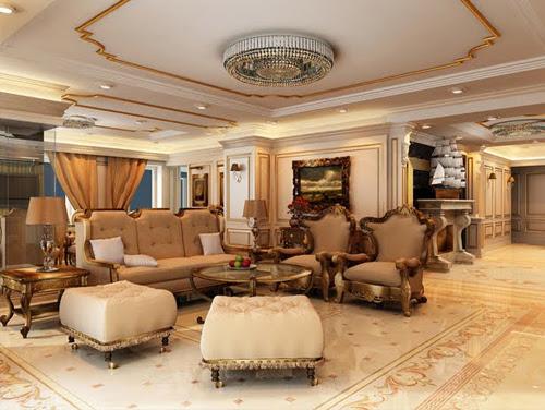 Tổng quan về phòng khách được thiết kế theo phong cách cổ điển