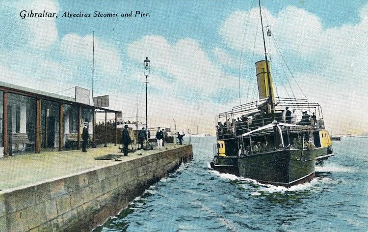 Terminal de pasajeros de la Compañia en Gibraltar. Primera decada del siglo XX. Postal.JPG