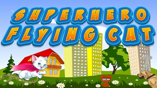 Superhero Flying Cat - náhled