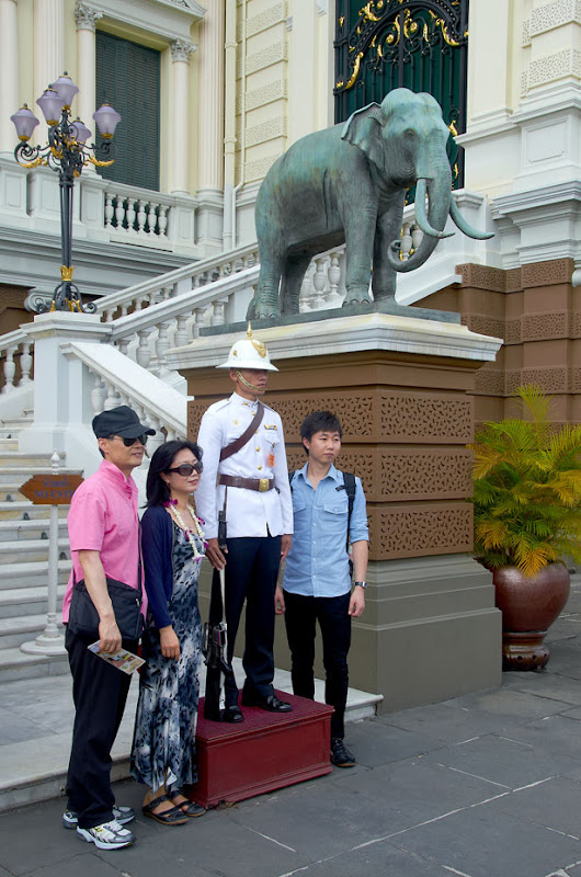 At the entrance of The Grand Palace (the Phra Thinang Chakri Maha Prasat). Bangkok