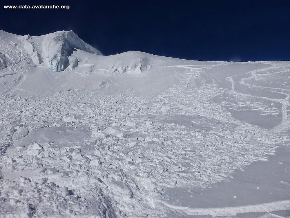 Avalanche Mont Blanc, secteur Vallée Blanche, Moyen Envers du Plan - Photo 1