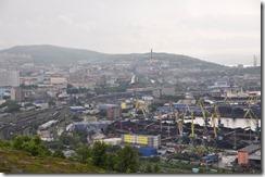 9 mourmansk Ville au dessus du port