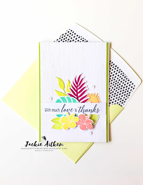 tropical chic, stampin up, floral frames