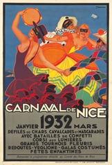 Carnaval de Nice affiche 1932