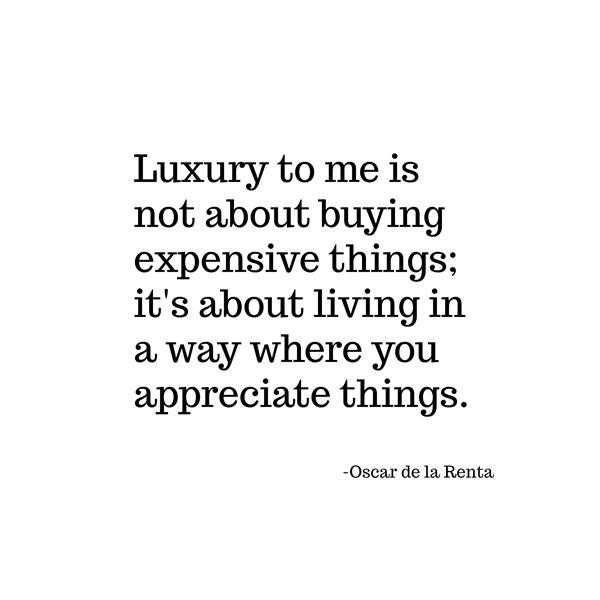 luxury -- oscar de la renta