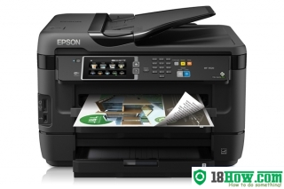 How to reset flashing lights for Epson WorkForce WF-7620 printer