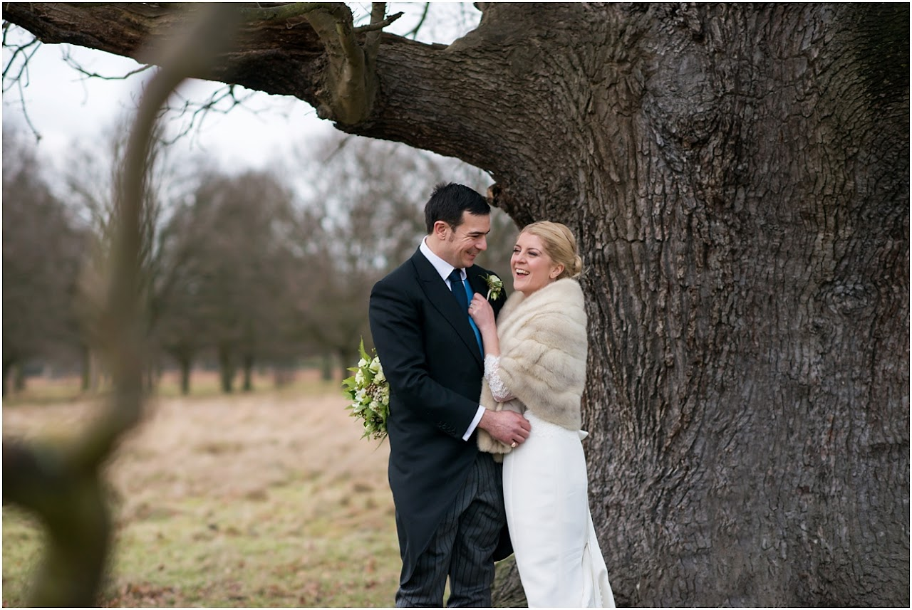 Winter wedding bushy Park
