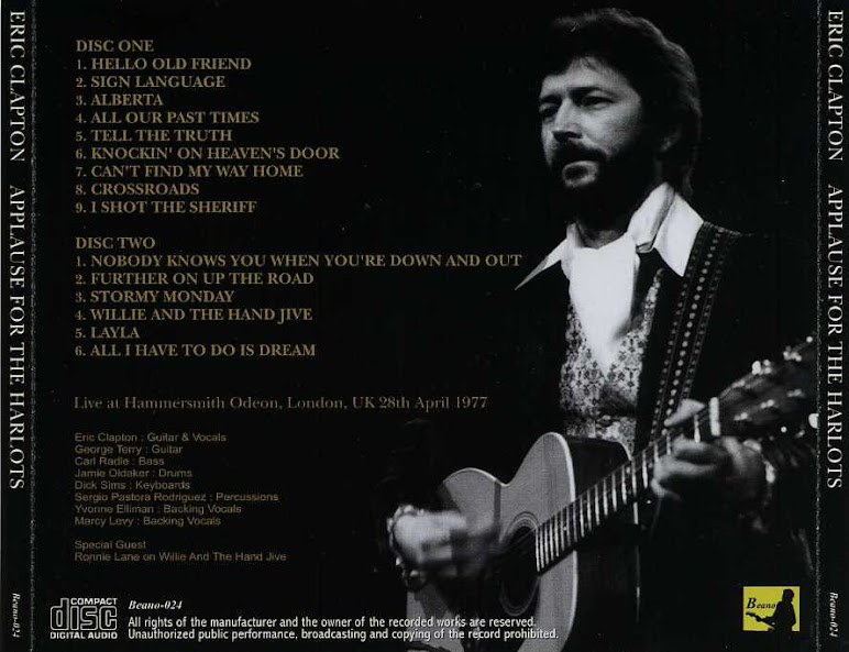 Eric Clapton - 'Applause For The Harlots', Hammersmith Odeon, London