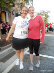 Julie and I before the race - our one year anniversary of knowing each other in real life!