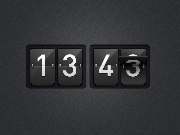 Clock UI PSD freebie
