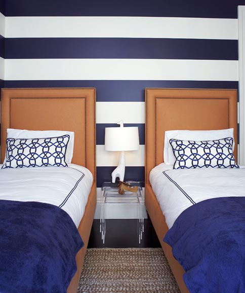 7 Show-stopping Bedrooms Like You've Never Seen horizontal stripes massuccowarner miller interiors