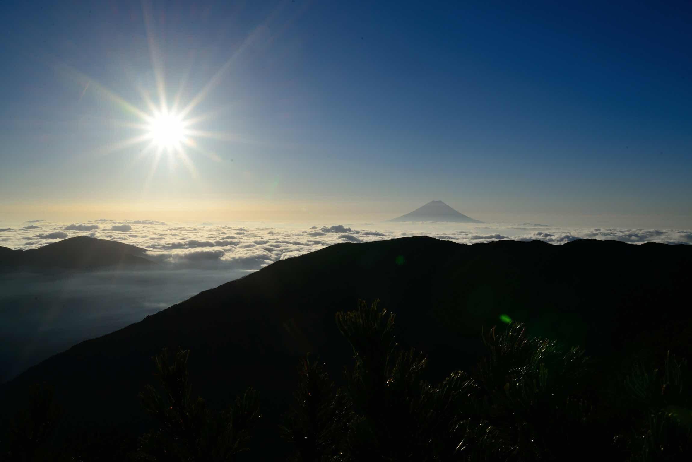 小太郎尾根から富士山