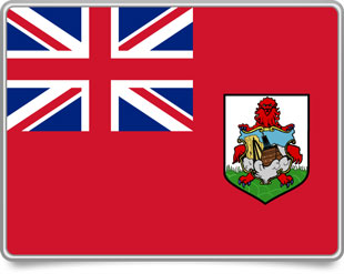 Bermudian framed flag icons with box shadow