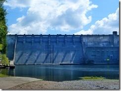 Boat ramp at dam spillway