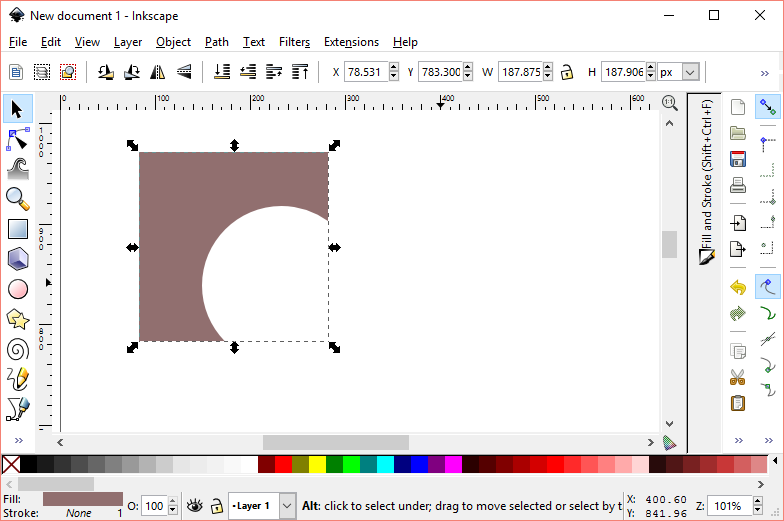 Difference inkscape