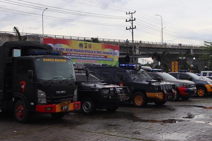 Brimob Polda Kaltim Ikuti Apel Gelar Pasukan Operasi Ketupat Mahakam 2021