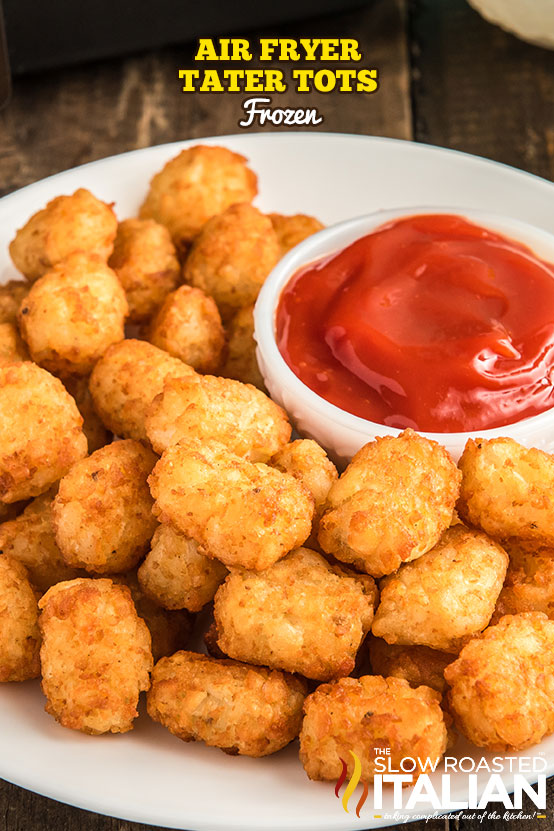 Air Fried Tater Tots on a plate