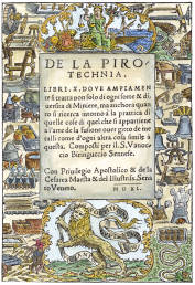 Woodcut Title Page From Biringuccio De La Pirotechnia 1540, Alchemical And Hermetic Emblems 2