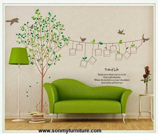 Trang trí nhà đón Tết với giấy dán tường mùa xuân-7