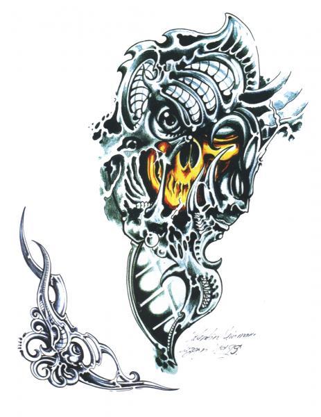 Horror Tattoo Design 2, Fantasy Tattoo Designs