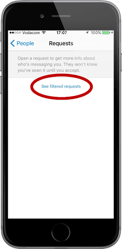 SEE FILTERED REQUESTS