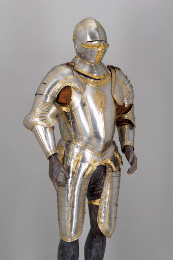 Helmschmid: light half-armor of Emperor Charles V. From The Museum of Fine Arts Houston Cloaked in Magnificent Opulence