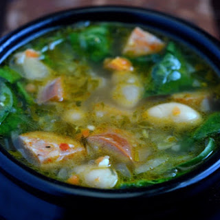 White Bean Chorizo & Spinach Soup