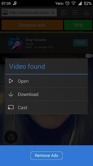 Cara Lebih Mudah Kedua Download Video dan Lagu Mp3 dari Smule Sing Android Tanpa Pc