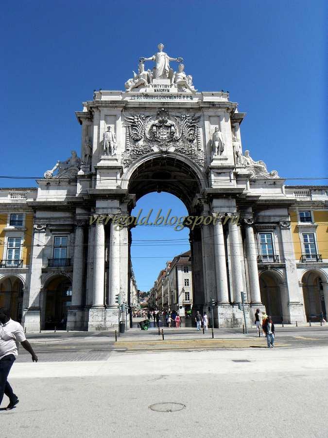 Площадь ду Комерсиу Триумфальная арка Лиссабон фото