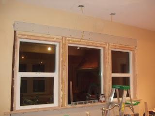 The smiths trim and sheetrock around windows for Drywall around windows