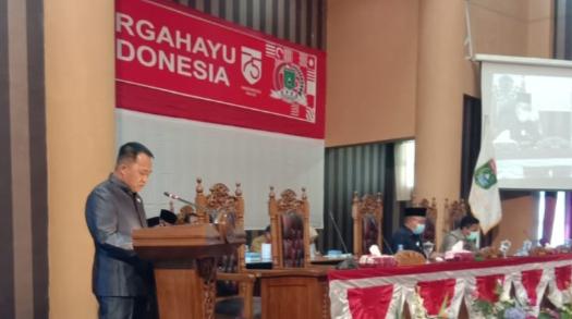 Di Rapat Paripurna, Bupati Sudian Sampaikan Rancangan APBD Perubahan